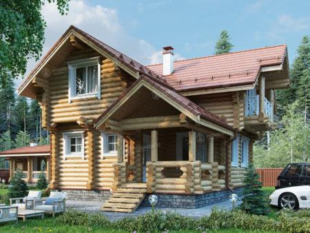 Проект дома из бревна ДК-106