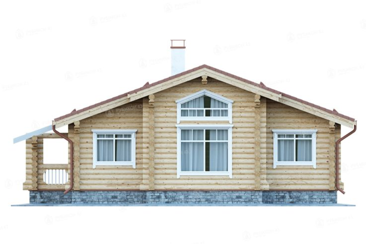 Проект дома из бревна ДК-110