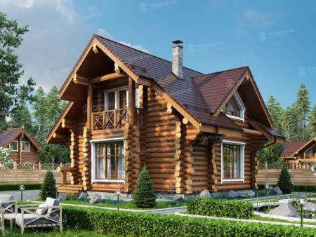 Проект дома из бревна ДК-111
