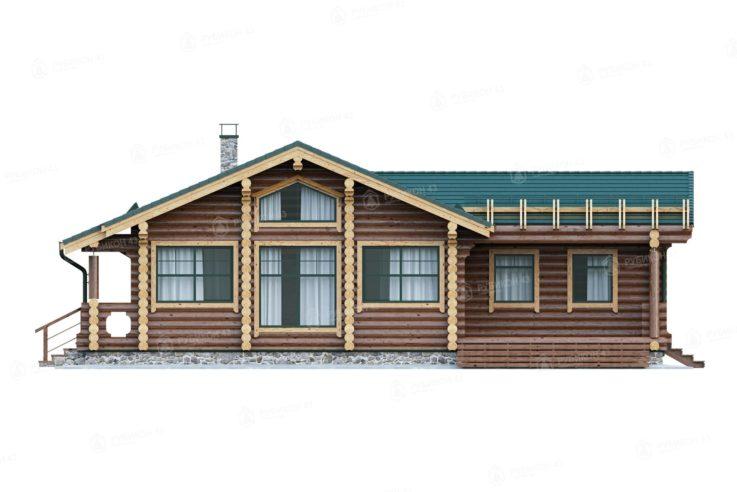 Проект дома из бревна ДК-112