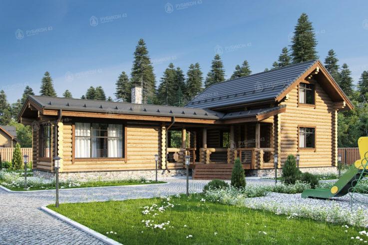 Проект дома из бревна ДК-116
