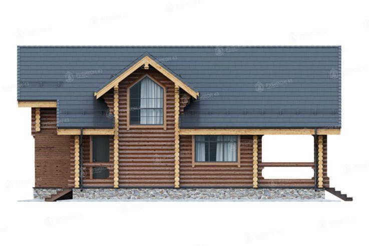 Проект дома из бревна ДК-131