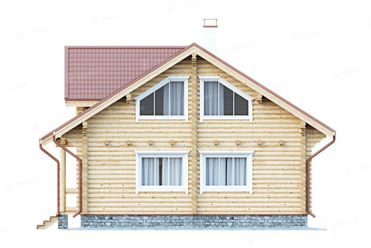 Проект дома из бревна ДК-154
