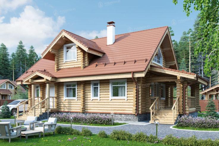 Проект дома из бревна ДК-138