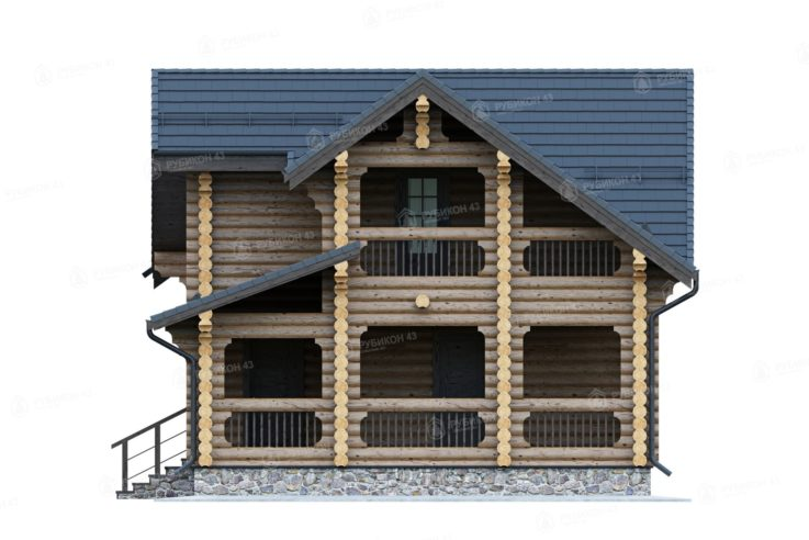 Проект дома из бревна ДК-149