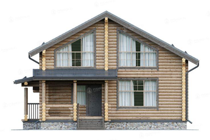 Проект дома из бревна ДК-152
