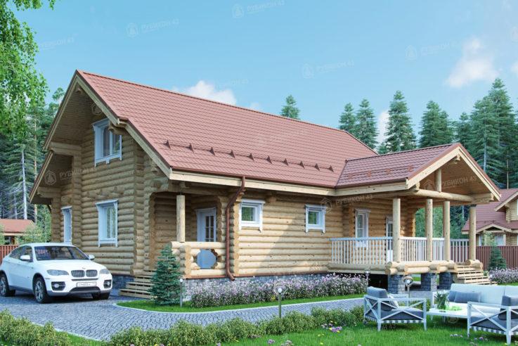 Проект дома из бревна ДК-153
