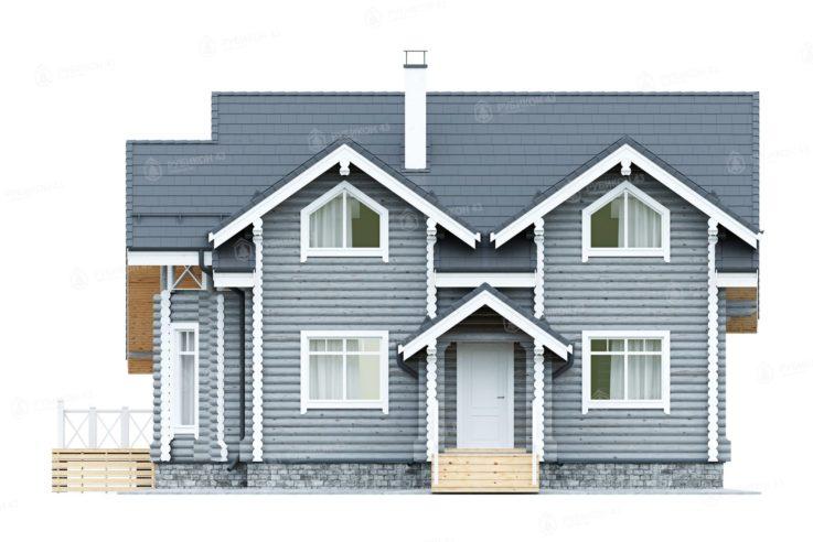 Проект дома из бревна ДК-155