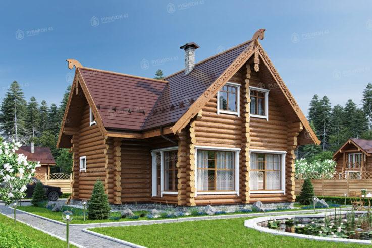 Проект дома из бревна ДК-176