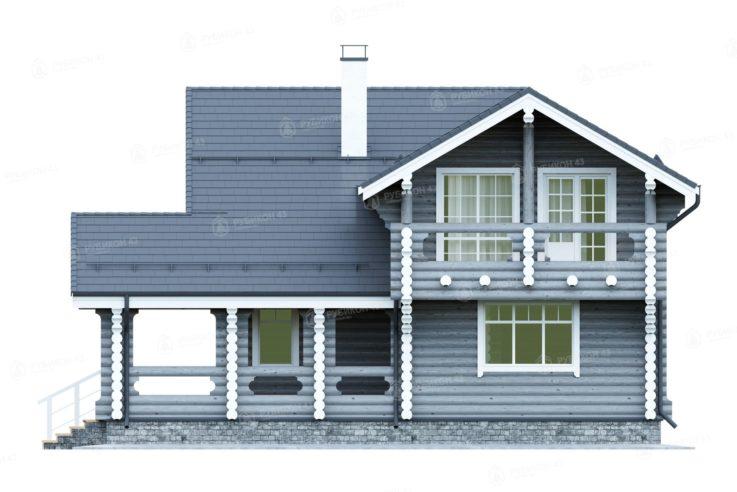Проект дома из бревна ДК-177