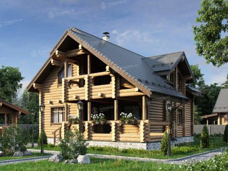 Проект дома из бревна ДК-190