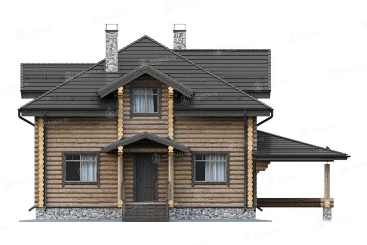 Проект дома из бревна ДК-245