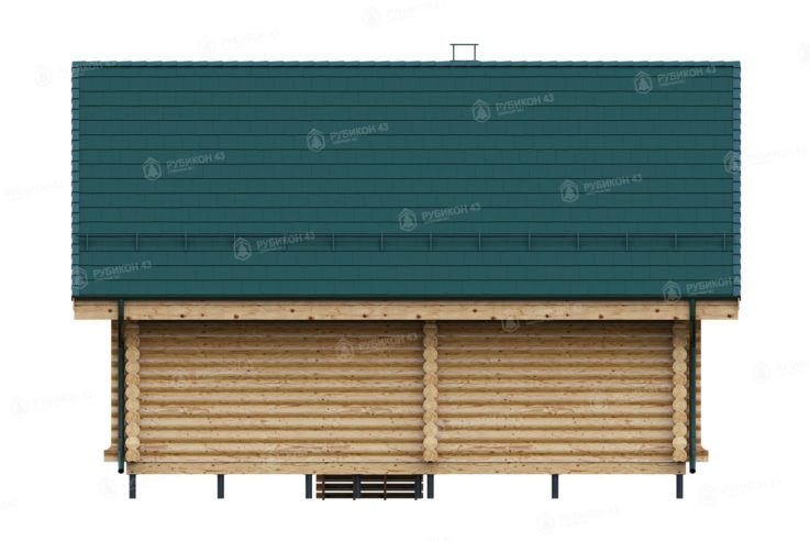 Проект дома из бревна ДК-48