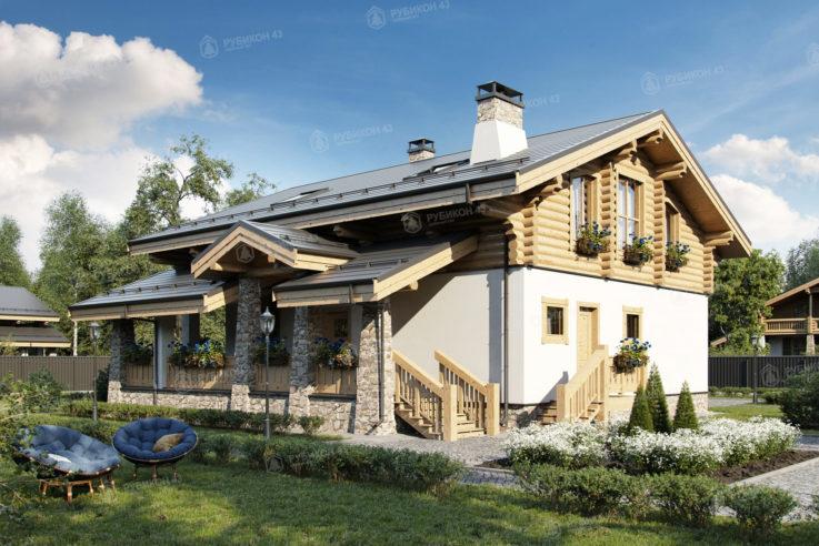 Проект дома из бревна ДК-283
