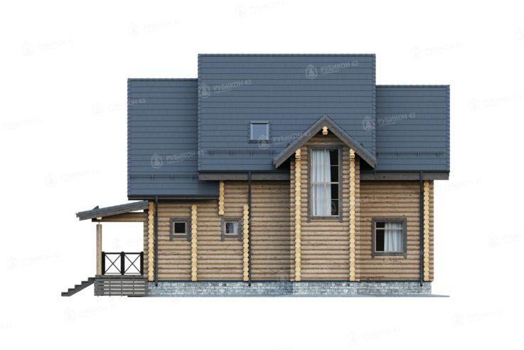 Проект дома из бревна ДК-168