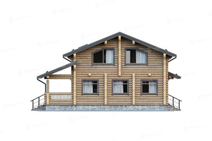Проект дома из бревна ДК-195