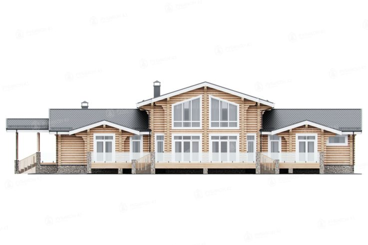 Проект дома из бревна ДК-375