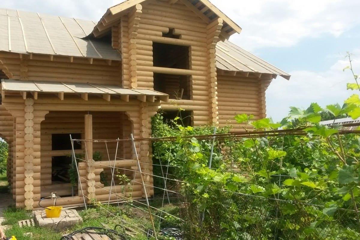 Двухэтажный дом из ОЦБ 22 см