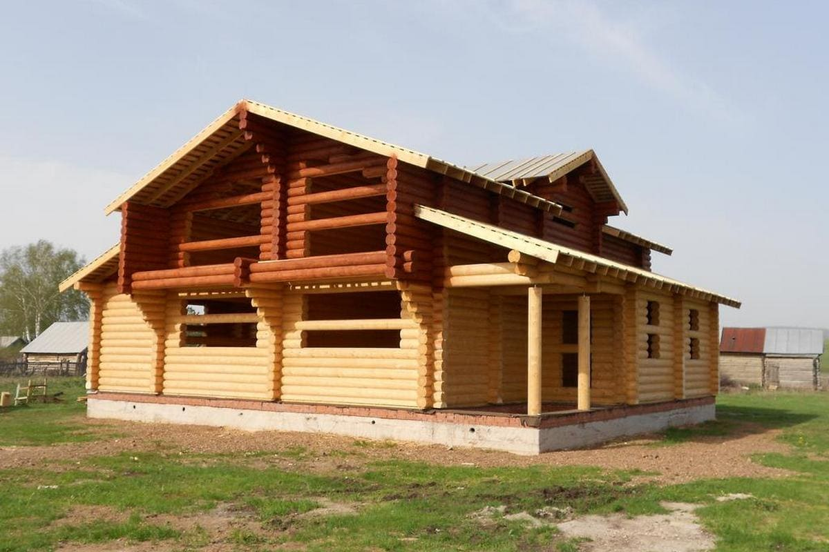 Дом из ОЦБ 26 см