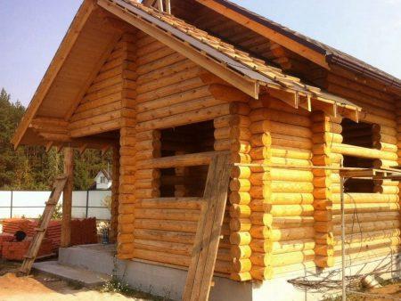 Садовый дом из ОЦБ 20 см