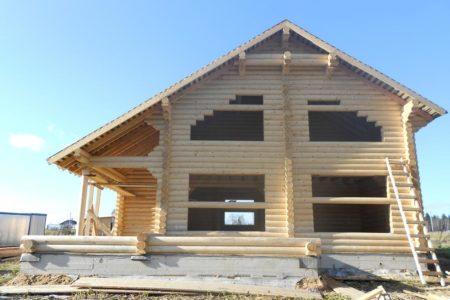 Двухэтажный дом из ОЦБ 24 см